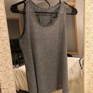 Gray Striped Workout Tee